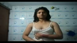 Desi bengali girl Self shoot bathroom she need a dick