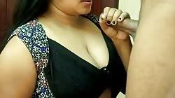 HOT INDIAN BIGBOOBS PRESS, CLOSEUP BLOWJOB, MOANING LOUDLY FUCK CUMSHOT