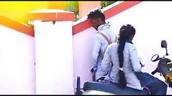 Indian school couple outdoor sex